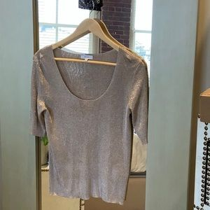 Reis rose gold metallic top